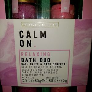 We Live Like This: Calm or Relaxing Bath Duo